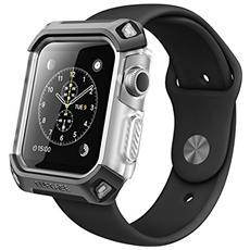 [ unicorn Beetle Pro] - Custodia Protettiva Robusta Per Apple Watch, Nero / argento