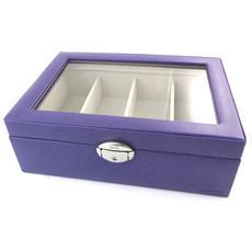 occhiali in scatola 'maestro' porpora (4 bicchieri) - [ n4501]