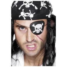Benda Da Pirata Con Teschio E Ossa Incrociate (no Bandana) (taglia Unica) (nero / bianco)