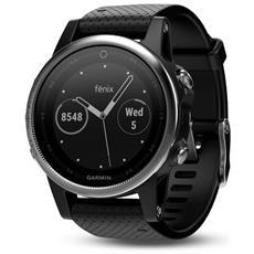 Sportwatch Fenix 5S GPS con Misurazione Frequenza Cardiaca al Polso Colore Argento / Nero