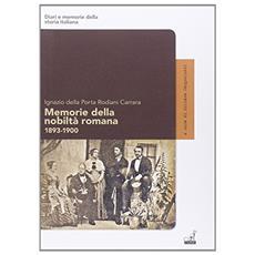 Memorie della nobiltà Romana (1893-1900)