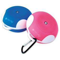 ICASBL02 - Speaker Portatile Bluetooth Wireless Sport MicroSD Azzurro