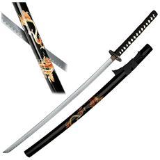 Katana ornamentale del drago spada giapponese per da arredamento nera per cosplay