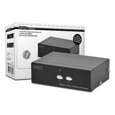 Switch Selettore Video Vga 15 Poli Femmina 2 Pc 1 Monitor Con Condivisione Audio
