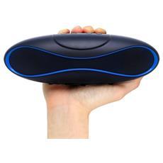 ICASBL04 - Speaker Portatile Bluetooth Wireless Rugby MicroSD Nero / Blu