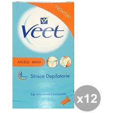 Set 12 Strisce Ascelle-bikini Pelli S. X 16 Pezzi Cura Del Corpo