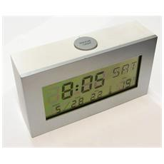 Specchio Sveglia Lcd Digitale Termometro Orologio Da Tavolo Allarme Luce Led Clock