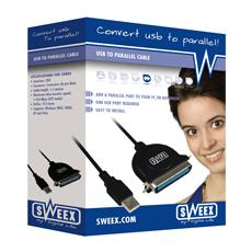 USB to Parallel Cable Nero cavo di interfaccia e adattatore