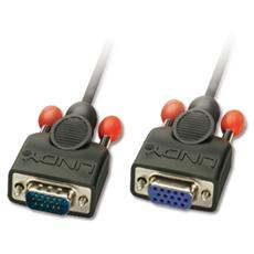 Prolunga Monitor VGA Nera senza ferrite, 3m