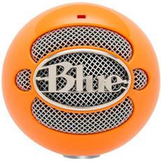 Snowball Neon Orange Microfono Professionale Usb per Windows e Mac