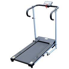 Tapis roulant elettrico attrezzo ginnico richiudibile attrezzo per l'allenamento domestico schermo lcd 500 w