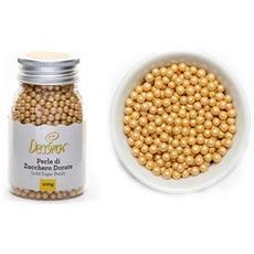 Confezione 100gr perle di zucchero dorate