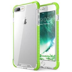 Custodia Iphone 7 Plus, Cover Antiurto [ shock Absorbing] Angoli Rinforzati - Pannello Posteriore Trasparente - Bumper (verde)