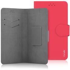 """Flip Cover Custodia Classic Detachable universale per 5.5"""" colore Rosso"""