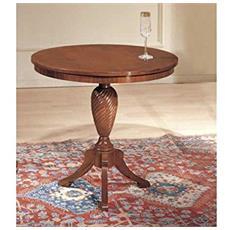 Tavolino Rotondo In Legno D. 68 H67