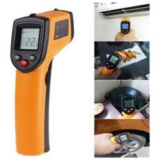 Termometro Infrarossi Laser Con Display Digitale Pistola Misura Temperatura
