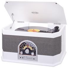 Stereo Giradischi Retrò Bluetooth Tt 1040 Bt Bianco