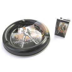 Confezione Regalo Di Fumare 'johnny Hallyday' Nero (+ Posacenere Accendino) - [ m9754]