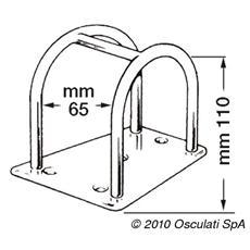 Porta tangone inox 110 mm