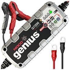 G7200eu Genius Caricabatteria Smart 12 V / 24 V 7.2 A Ottimizzato per Batterie Start-Stop con Tecnologia Agm Ed Efb