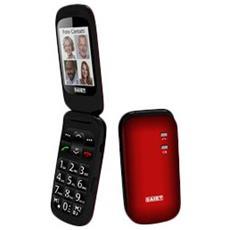 """Scudo+ Senior Phone Display 2.4 """" Slot MicroSD Bluetooth con Tasti Grandi + SOS Fotocamera Colore Rosso - Italia"""