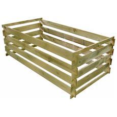 Compostiera A Stecche Pino Impregnato 160x80x58 Cm