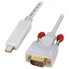 41968 Mini Displayport VGA Bianco cavo di interfaccia e adattatore