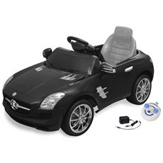 Macchina Cavalcabile Mercedes Benz Sls Amg Nera 6 V Con Telecomando