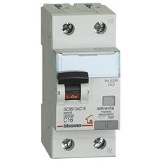 Gc8813ac16 - Btdin-rs - Interruttore Magnetotermico Differenziale Ac 1p+n 30ma 16a 4500
