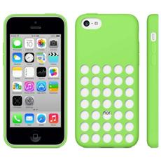 Custodia Cover Silicone Con Fori Per Iphone 5c Verde