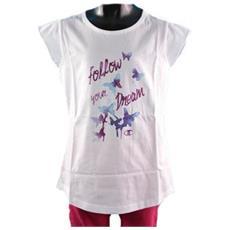 T-shirt Da Bambina Farfalla M Bianco