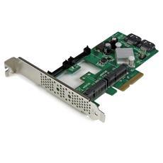 Scheda Controller PCI express 2.0 SATA III Raid 6 Gbps a 2 porte con 2 slot mSATA e SSD HyperDuo Tiering