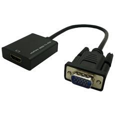 Adattatore VGA / Audio HDMI Maschio / Femmina da 0.15 m