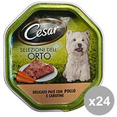 Set 24 150 Gr. Umido Patè Pollo-carote Cibo Per Cani