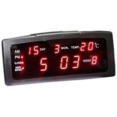 Sveglia Da Tavolo Zxtl13a Digitale Allarme Lcd Con Temperatura Data Ora Calendario