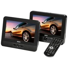 """DVD 4551 DVD portatile con Doppio Monitor da 7"""" porta USB Card Slot Colore Nero"""