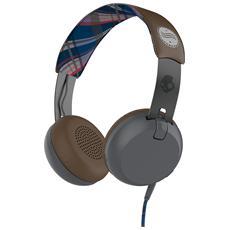 Cuffie On-Ear Grind TapTech Supreme Sound colore Grigio / Marrone