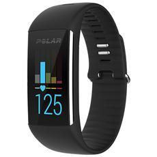 A360 Fitness Tracker Misura M Cardiofrequenzimetro, conta Passi, Calorie e Sonno + Notifiche con vibrazione - Nero