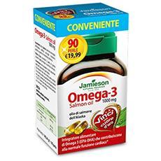 Omega 3 salmon oil 1000mg 90cpr - integratore all'olio di salmone
