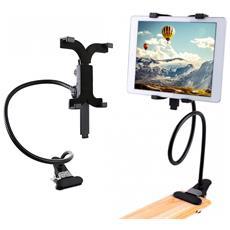 410108 Supporto Universale Di Metallo Flessibile Per Tablet Con Pinza