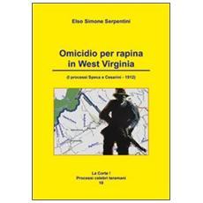 Omicidio per rapina in West Virginia