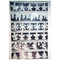 Decoro Finestra Natalizio 60 x 15 cm Bianco