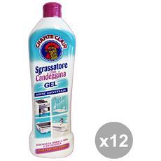 Set 12 Sgrassatore Gel Concentrato Candeggina 450 Ml. Detergent