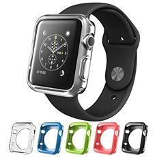 Cover Apple Watch 2, I-blason [5-in-1] Multi Confezione Da 5 Intercambiabili Copertine In Gel Di Silicone (ogni Copertura Della Cover Skin Flessibile Inclusa In Questo Pacchetto È Di Un Diverso Colore