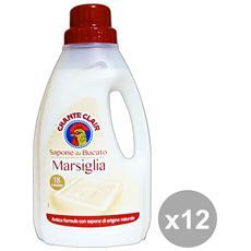 Set 12 Bucato Marsiglia 1 Lt. Detergent