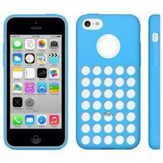 Custodia Cover Tpu Con Fori Per Iphone 5c Blu