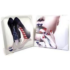 set di 2 panni 'america' bianco multicolor (40x40 cm) - [ m2200]