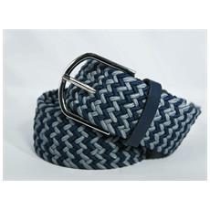 8abca9fb66 TAKESTOP - Cintura Uomo Donna Intrecciata Blu Grigio In Corda Cinta Tessuto  Con Fibbia In Metallo Quadrata Unisex Casual