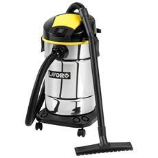 LAVOR - Bidone Aspirapolvere Aspiraliquidi Trenta X Wash In Acciaio Inox 1600w 30l