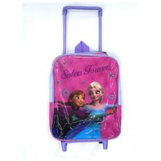 Mini Zainetto Zaino Trolley Frozen Anna Elsa Disney Scuola Pranzo Asilo Bimba